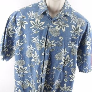 Pierre Cardin Hawaiian Shirt Button-Front Large